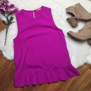 🎉Gianni Bini ruffle key hole blouse